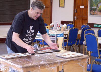 Preparing The Westway pastries